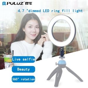 Image 5 - Puluz 4.6 pouces Usb 3 Modes Dimmable photographie Studio photographique anneau lumière Led vidéo lumière et froid chaussure trépied rotule