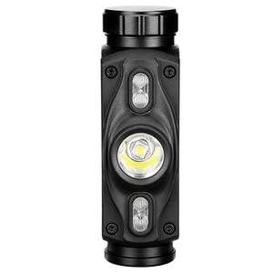 Image 3 - 3 LEDs reflektor XML L2 niebieski czerwony reflektor USB ładowania lampa czołowa wodoodporna 18650 latarka latarka przenośna latarnia dla wędkarzy