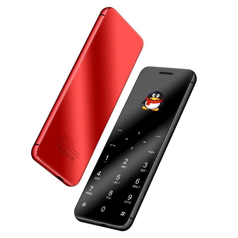 ULCOOL V99 V66A 1.67 Téléphone Super Mini Carte Ultra-Mince De Luxe MP3 Bluetooth 2.0 Dialer Anti-perdu Double SIM ultra Téléphone