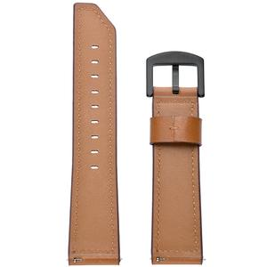 Image 2 - 22 مللي متر الذكية ساعة رياضية مع جلدية استبدال حزام ساعة اليد ل سماعة هواوي غرامة الملمس ، قوي ودائم الجلود حزام