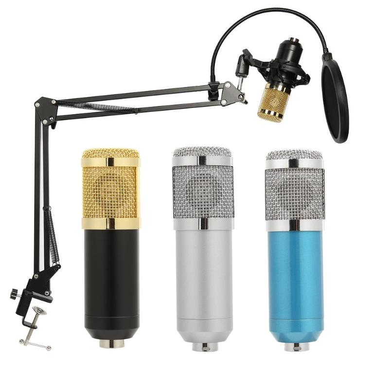 Able Computer Condenser Audio 3.5mm Wired Bm 800 Studio Microphone Vocal Recording Ktv Karaoke Mic With Microfone Stand Holder Mount
