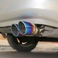 1x tubo de garganta de extremo de silenciador trasero de Tubo de escape dual trasero de coche de acero inoxidable nuevo