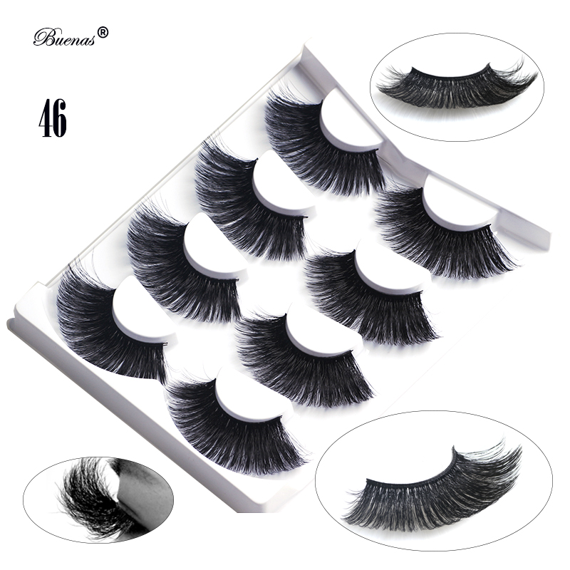 Buenas neue 6d wimpern <font><b>25mm</b></font> lange wimpern hand made winged volle streifen 6D falsche wimpern super lange wimpern extensions image