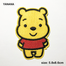 Cute yellow bear Cartoon Fashion Clothes Decorate Embroidered DIY dressing Childrens clothes iron on