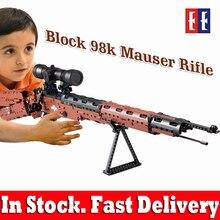 Ak47 игрушечный пистолет игрушка legoing пистолет модели 98 k пистолет строительные блоки, совместимые с legoed кирпичи развивающие игрушки для детей мальчиков