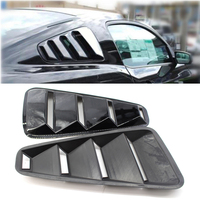 2pcs 100% Brand New And High Quality ABS plastic 1/4 Quarter Side Window Louvers Scoop Cover Vent for 2005 2014 Ford Mustang