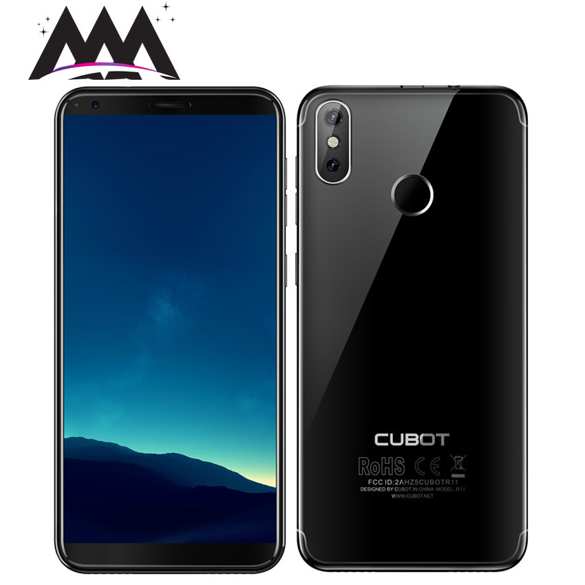 Cubot r11 android 8.1 5.5 3g smartphone 18:9 hd + tela mt6580 quad core celular 2g ram 16g rom duplo voltar câmeras telefones celulares
