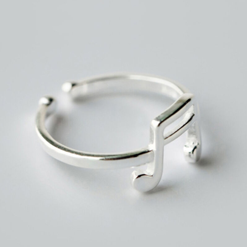Rational Music Sign Note Rings For Women New Lovely Girls Adjustable Size Ring For Women Size Ring Fashion Jewelry Finger Open Ring New Pure Whiteness Jewelry & Accessories