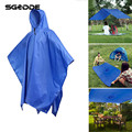 3 in 1 Travel Waterproof Poncho Sun Shelter Camping Mat Outdoors 210T Polyester Rain Coat Shelter Backpack Cover raincoat