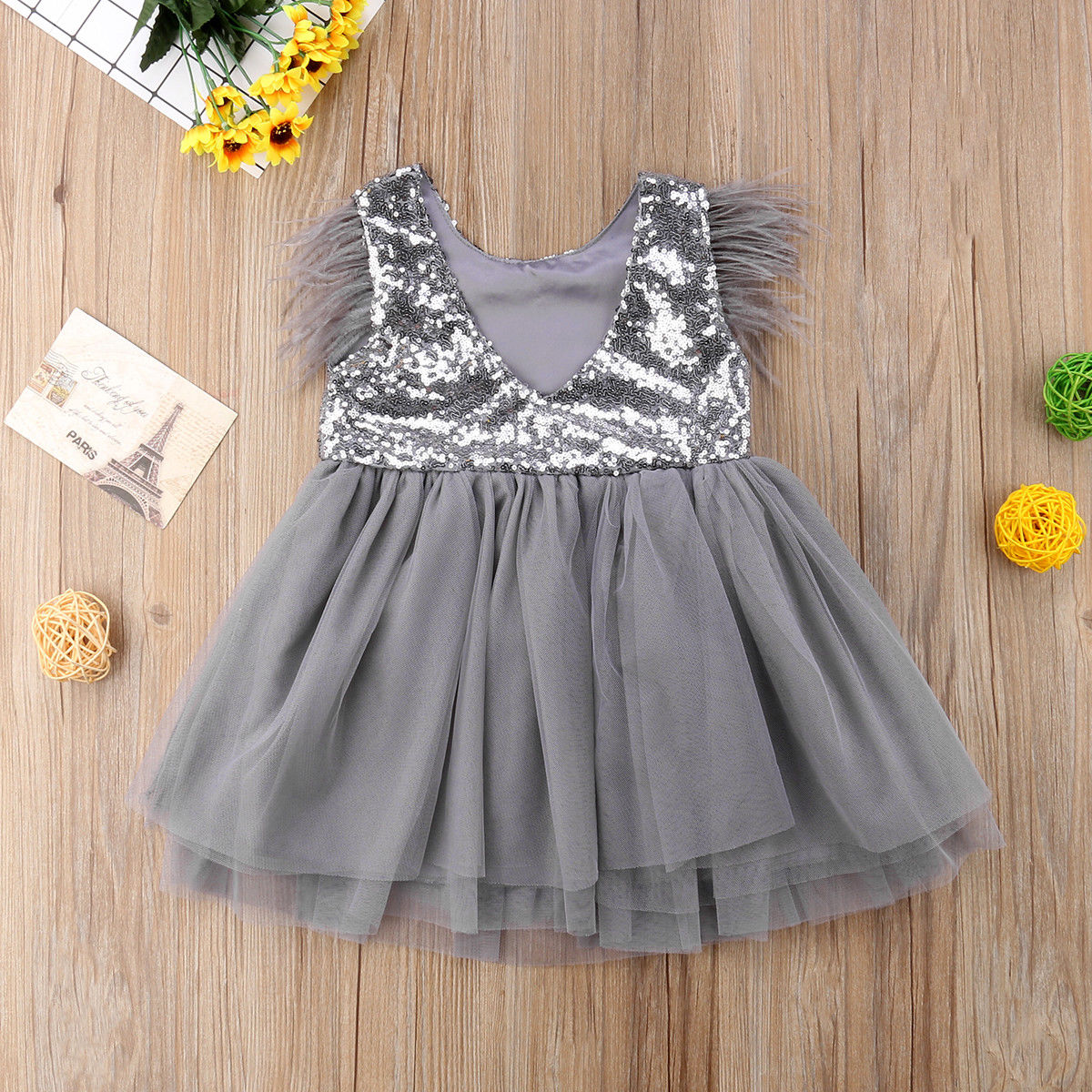 Classic Toddler Kids Baby Girl Short Sleeve Floral Deer Princess Pageant Dresses