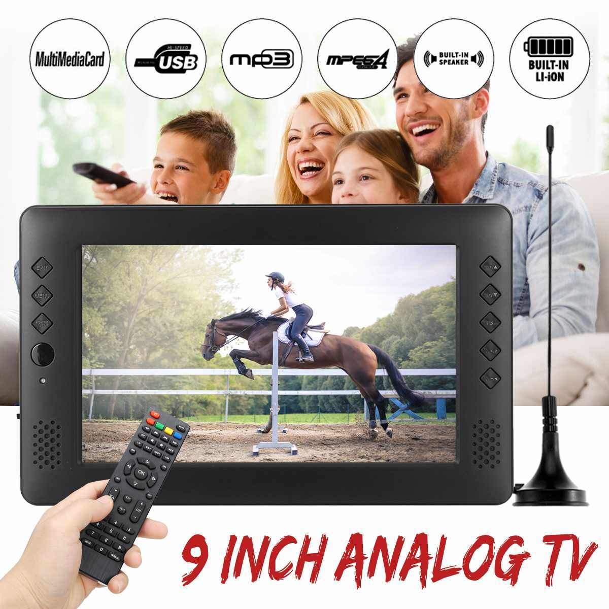 12V 9 ''TV Portable Mini Wifi Digital dan Analog TV HD DVB-T2 DVB-T DTV ATV Mobil Smart Televisi mendukung USB TF Kartu MP4 MP3