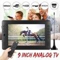 12V 9 ''TV Draagbare Mini WiFi Digitale en Analoge TV HD DVB-T2 DVB-T DTV ATV Auto Smart Televisie ondersteuning USB TF Card MP4 MP3