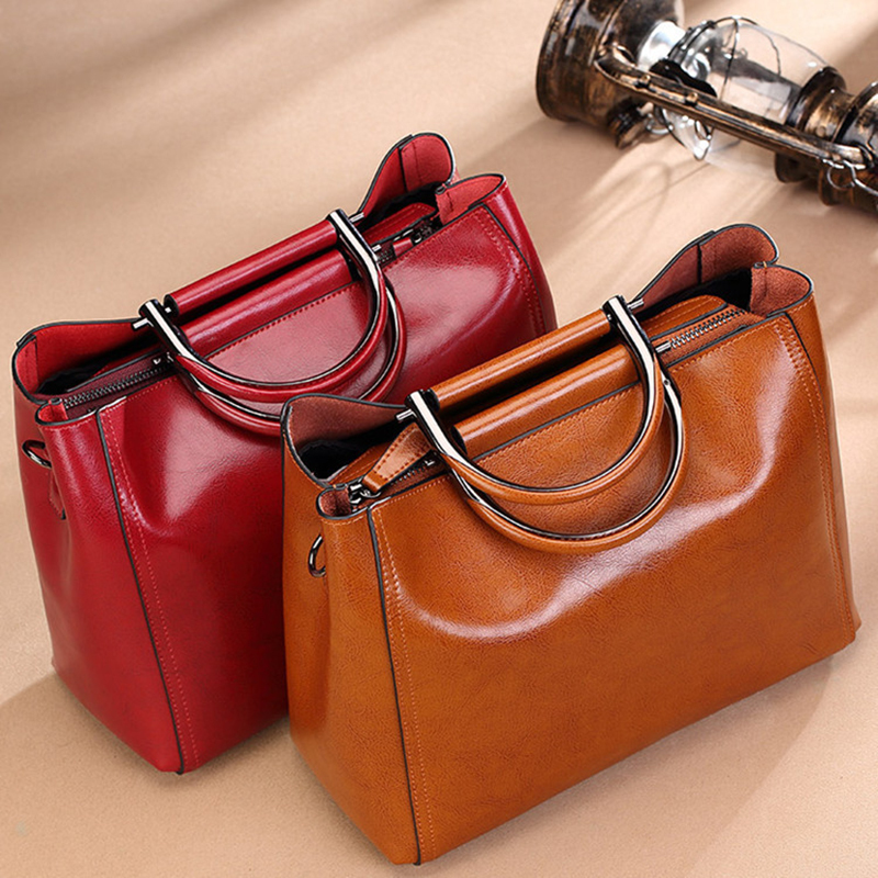 2019 Girls Messenger Bags Soft Leather Ladies Totes Bags Women Real Leather Handbags Shoulder Bag Luxury Designer Sac Femme