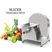Купить с кэшбэком ITOP Commercial Vegetable Fruit Cutter Stainless Steel Potato Tomato Carrot Vegetables Slicer Machine 0.8-12mm Cutting Thickness