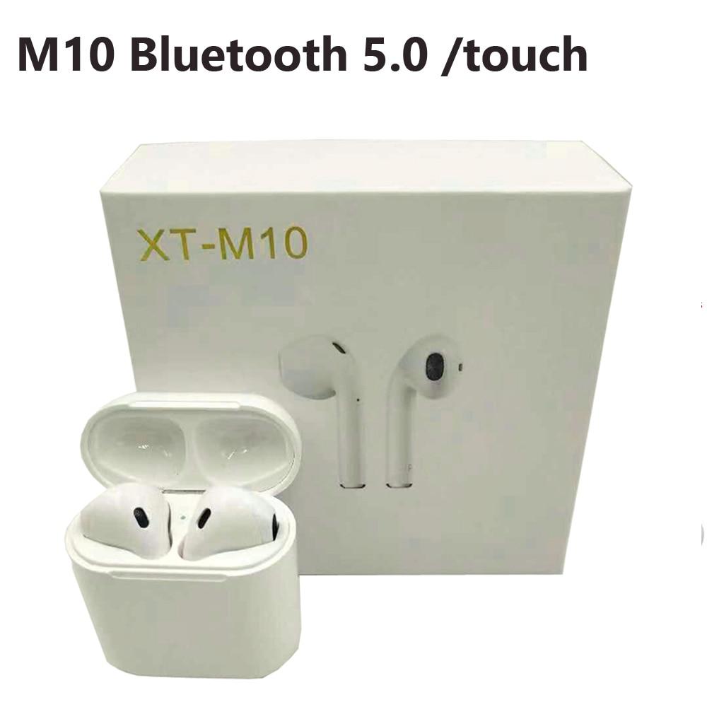 M10 TWS Bluetooth 5.0 écouteurs, oreillettes sans fil Sport Musique Tactile Contrôle Casques mise à niveau par i10 Pour tous les téléphone portable téléphone