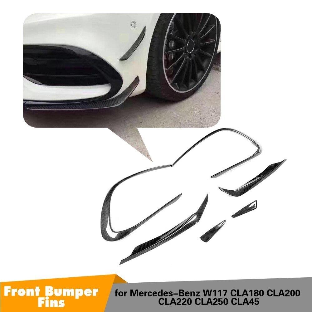 Carbon Fiber Car Front Bumper Air Vent Fender Trim For For Mercedes Benz W117 CLA45 AMG 2017 2018 Base 4Matic Sedan 4 Door
