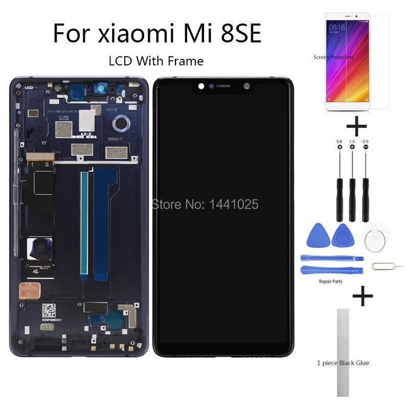 Качество AAA lcd + рамка ips для Xiao mi 8 SE lcd сенсорный экран Мобильный телефон lcd для mi 8 SE сенсорный экран lcd с рамкой