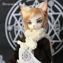 OUNEEIFS Oskar Creature Klauw Dearmine 1/4 bjd sd hars cijfers body model man poppen ogen Hoge Kwaliteit speelgoed kat make up