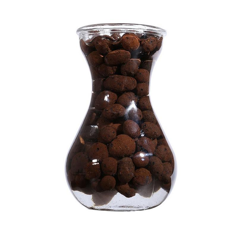 100g Ceramic Hydroponic Soil Negative Ion Pottery Carbon Ball Nutrient Soil Organic Expanded Clay Pebbles For Plant Aquaculture