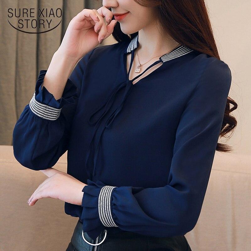 womens tops and blouse shirt women blouse 2018 women tops long sleeve chiffon bl