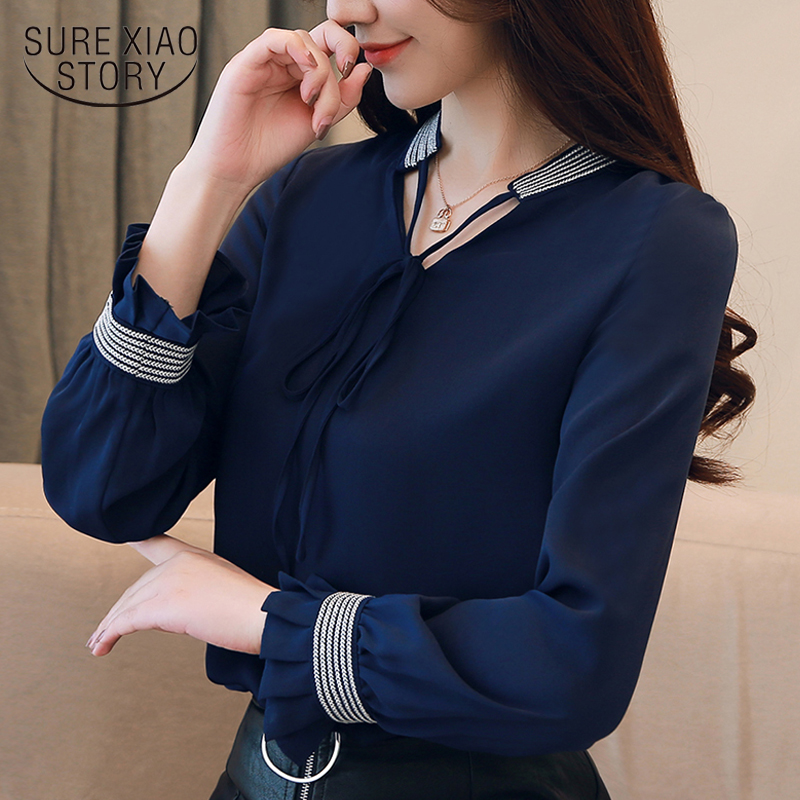 womens tops and   blouse     shirt   women   blouse   2018 women tops long sleeve chiffon   blouse     shirt   clothes blusas femininas 1481 45