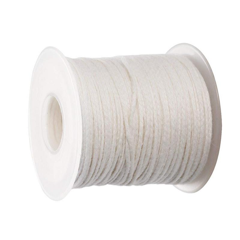 61M White Candle Wick Cotton Candle Core DIY Handmade Candle Supplies Decoration Candles Making Material Waxed Wick Fire Rope