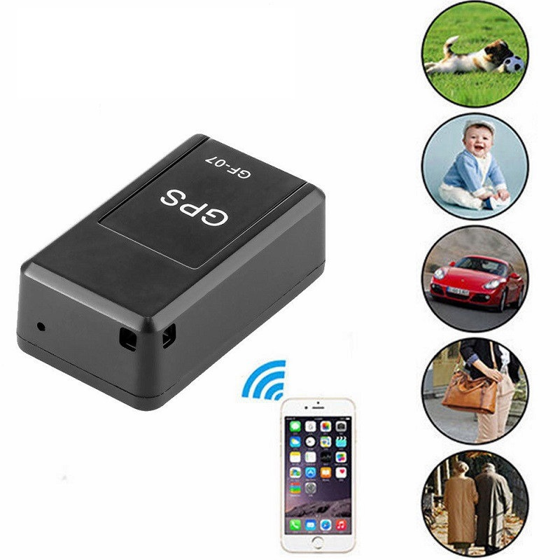 2019 Animal de Estimação Inteligente Mini GPS Tracker Anti-Perdido Tracer Para Pet Cães Gatos GF-07 GPS Trackers Finder Equipamento Original dispositivo de rastreamento