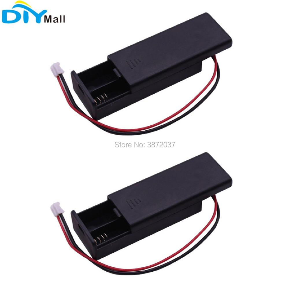 For BBC Micro:bit Microbit 2pcs AAA Battery Holder Case Cover Box Shell 3V PH2.0 Interface 2 Pin 2pcs/lot