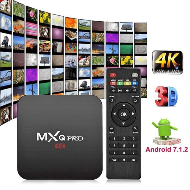 MXQ PRO Android 7.1 TV Box RK3229 Quad Core 2G+16G Smart TV Box 4K 2.4GHz WiFi H.265 Set-top Box Media Player Smart TV Receivers