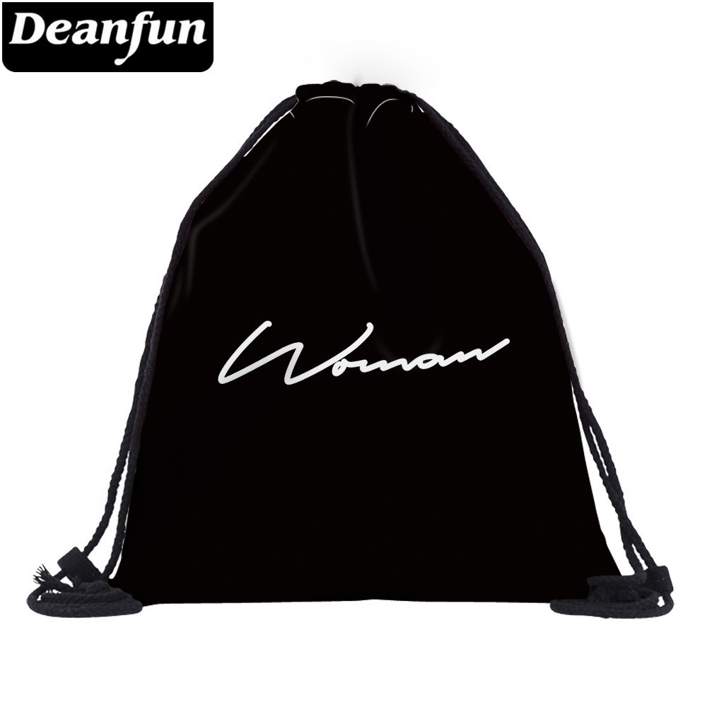 Deanfun Drawstring Bag Backpack Printing Letter Travel Customize Logo Women Waterproof  Backpacks Bags  60176