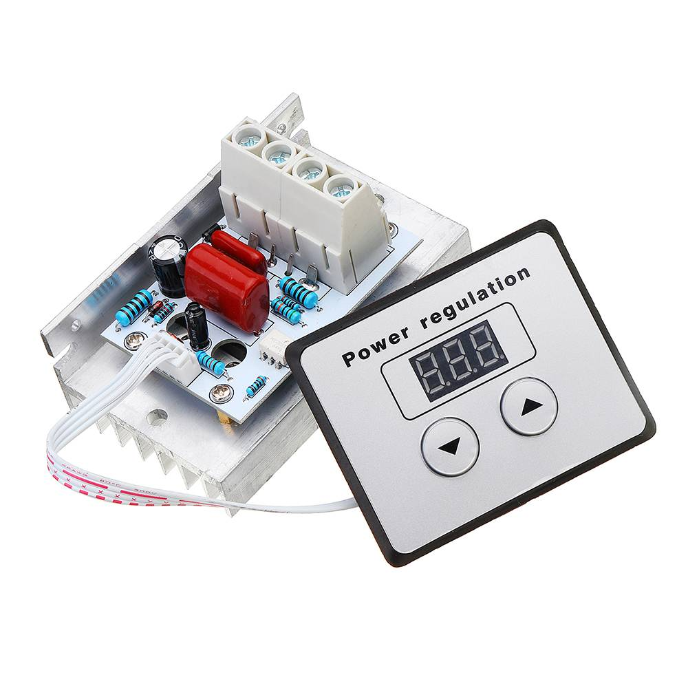 CLAITE AC 220V 10000W 80A Digital Control SCR Electronic Voltage Regulator Speed Control Dimmer Thermostat NEW