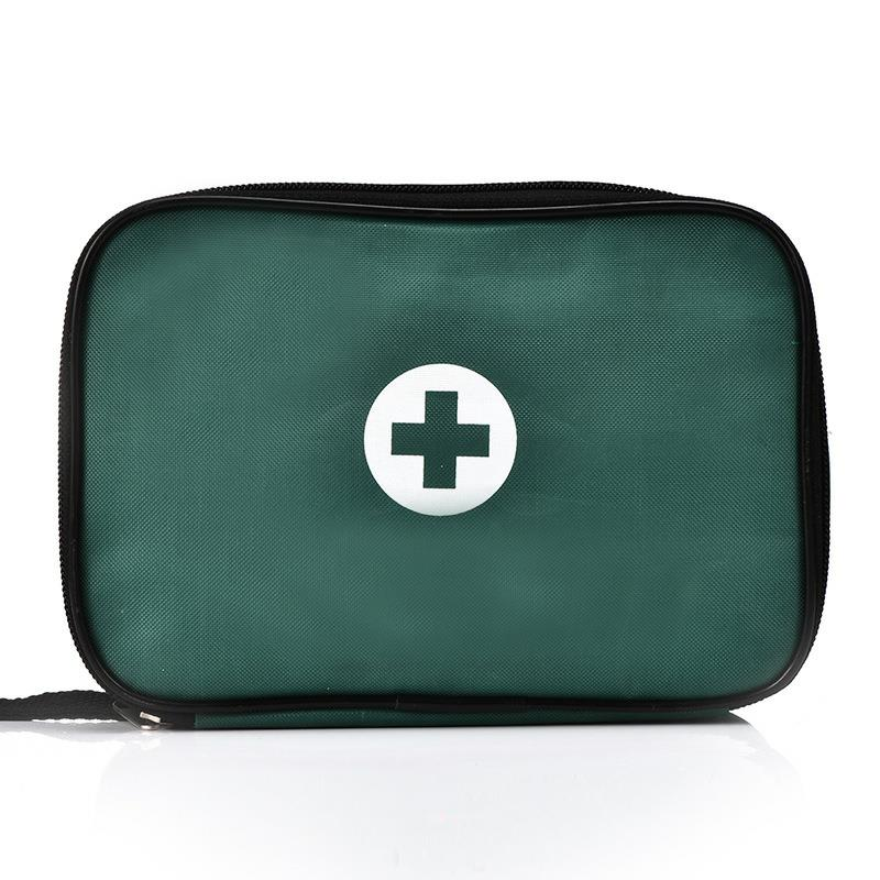Outdoor First Aid Kit Outdoor Sports Green Nylon Waterproof Cross Messenger Bag Family Travel Emergency Medical Bag DJJB015