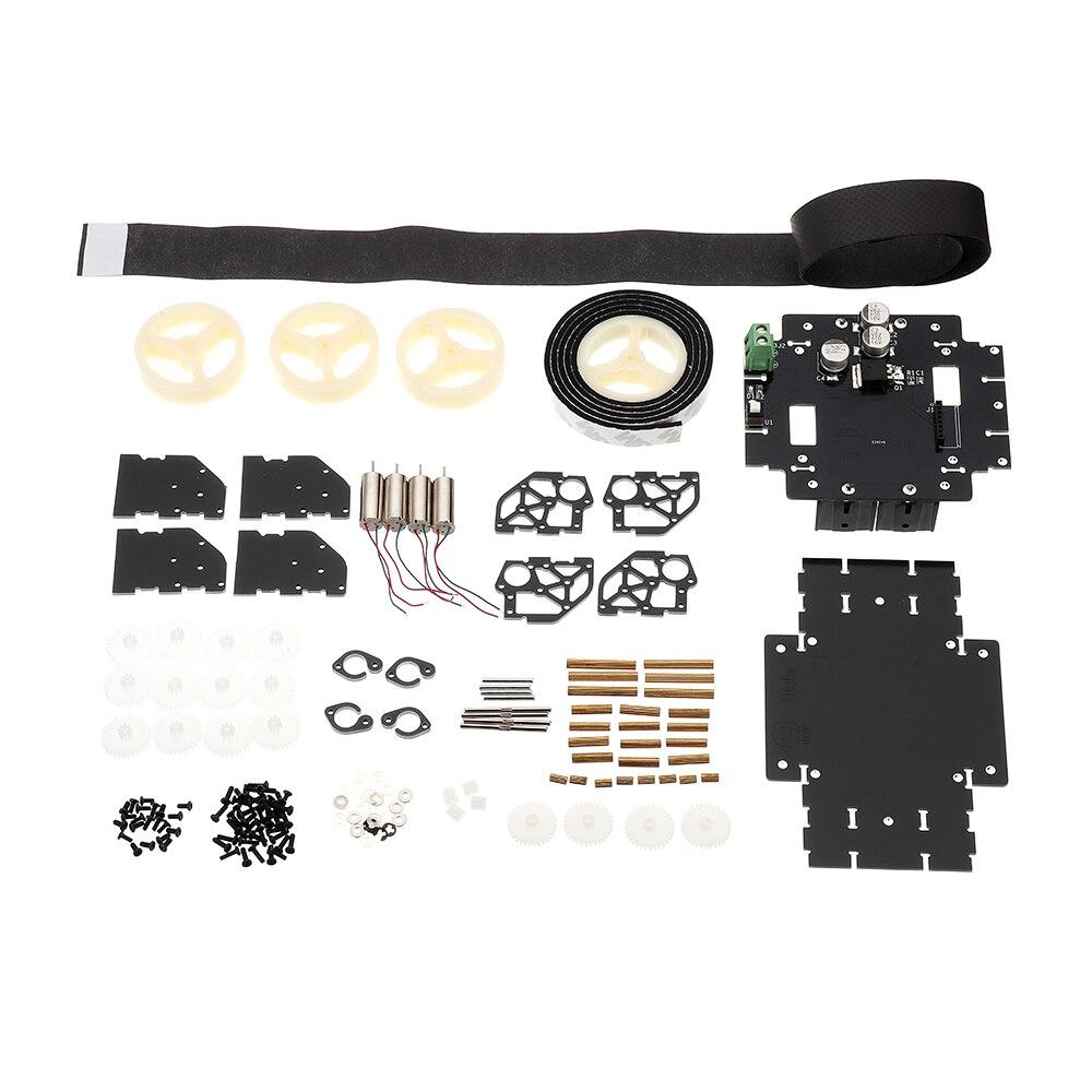 3,7 V Smart Roboter Auto Kit Mit 4 Pcs Hohl Tasse Motor/schaltung Top Board/custom Rad 149 * 80*46mm Einen Einzigartigen Nationalen Stil Haben