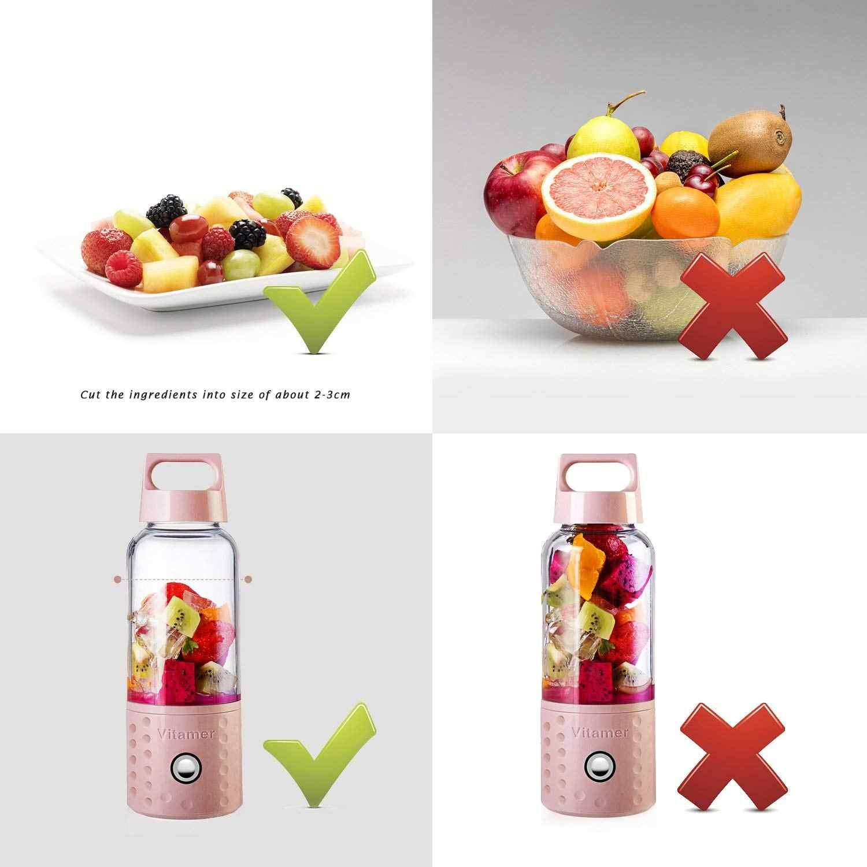 Melhor Vender Liquidificador Portátil, Poderoso Liquidificador Smoothie, 17 oz Frutas Máquina de Mistura Com Baterias Recarregáveis USB, o Transporte da gota