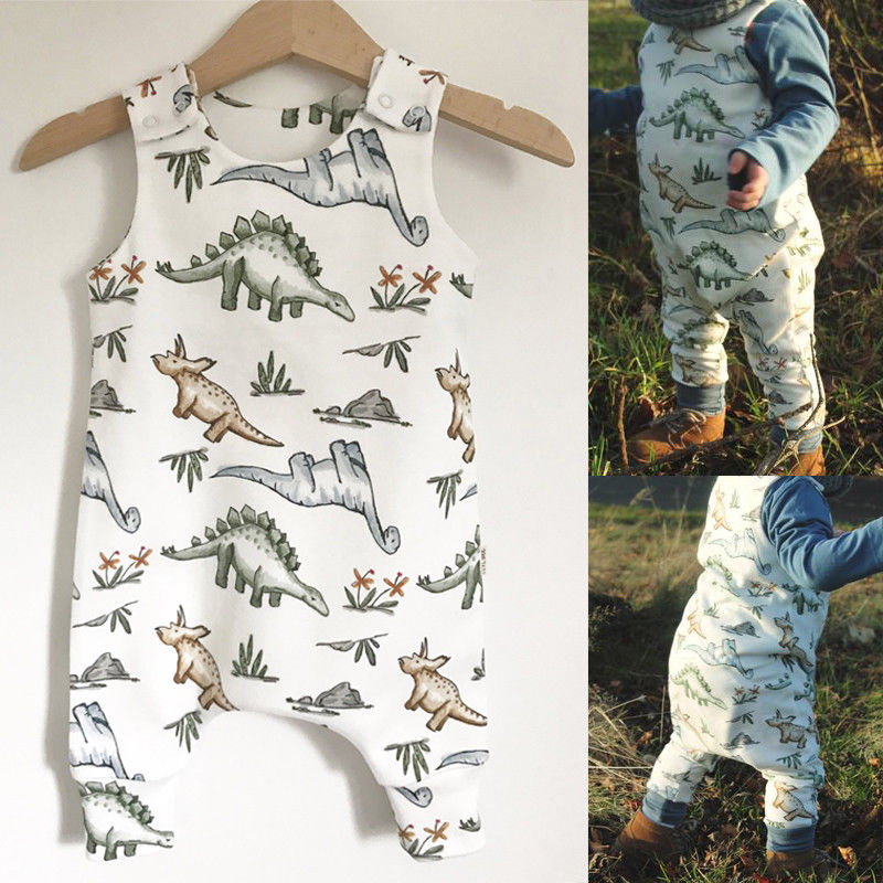 Pudcoco Babys Jumpsuits 6M-24M Cotton Newborn Baby Boy Girl Dinosaur   Romper   Jumpsuit Clothes Outfits
