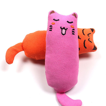 Cat Grinding Catnip Toys Funny Interactive Plush Toy Pet Kitten Chewing Claws Thumb Bite Mint For Cats Teeth 3