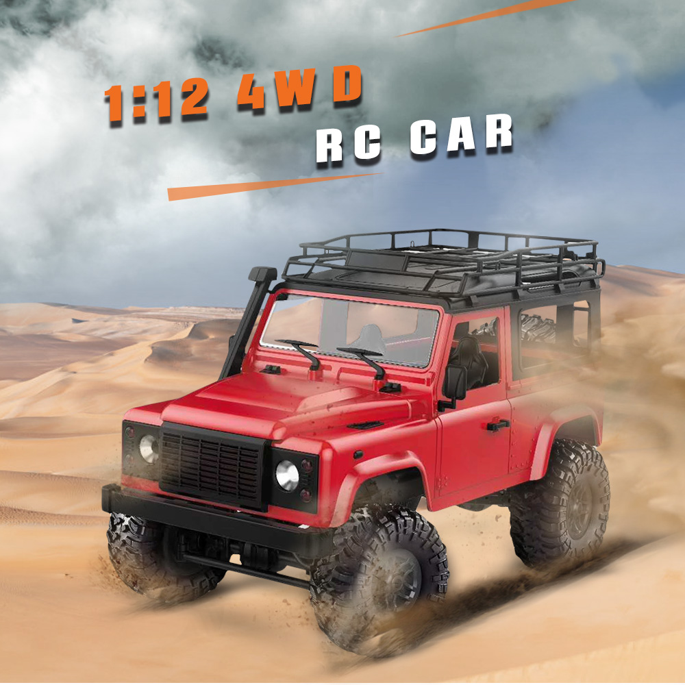 MN-90 1/12 2.4G 4WD RC Cars Front LED Light 2 Body Shell Roof Rack Crawler Monster Truck RTR Toys Remote Control Car ABS MetalMN-90 1/12 2.4G 4WD RC Cars Front LED Light 2 Body Shell Roof Rack Crawler Monster Truck RTR Toys Remote Control Car ABS Metal