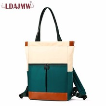Fashion Lady Shoulder Handbag Bag Waterproof Nylon Outdoors Oblique Satchel Multifunction Both Shoulders Backpack