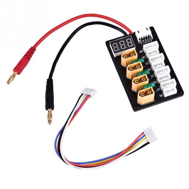 Nuevo 3 S 4S LiPo baterías de carga paralela de XT60 Banana macho B6 cargador de Control remoto accesorios Venta caliente RC los modelos de piezas