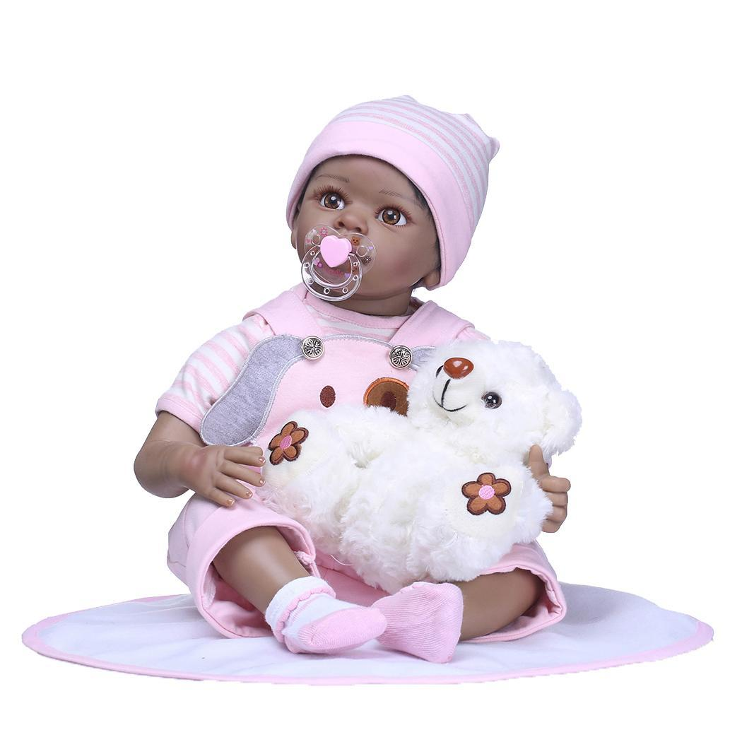 Kids Soft Silicone Realistic With Clothes Collectibles, Gift, Playmate Reborn Unisex Baby 2-4Years Pink DollKids Soft Silicone Realistic With Clothes Collectibles, Gift, Playmate Reborn Unisex Baby 2-4Years Pink Doll