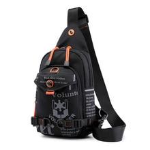 Yüksek kaliteli naylon erkek göğüs çantası sırt çantası sırt çantası marka ünlü seyahat rahat erkek bir omuz çantaları asma sırt çantası sırt çantası