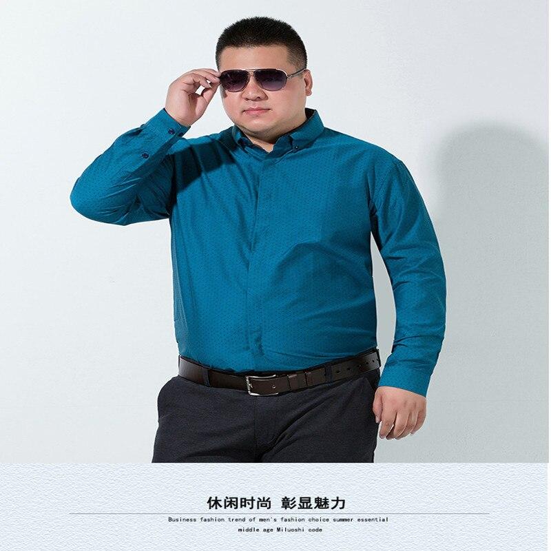 Confortable Loose Doux Robe Casual 8xl Sociale 1 Manches Entreprise Fit 6x 10xl Mâle Vêtements 2 Marque Imprimé Shirt Hommes Longues Chemise UTWw8xqdn