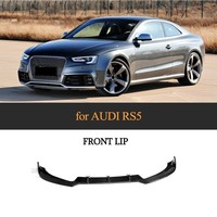 JC Design Front Lip Spoiler For 2012 2015 Audi RS5 Coupe 2 Door Carbon Fiber Bumper Lip Protector