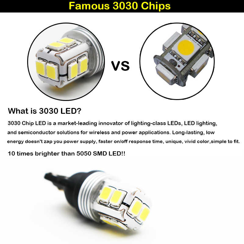 iJDM T10 168 194 W5W LED Clearance Parking Light Wedge Light and For Ford Chevy GMC etc High Mount 3rd Brake Stop Light Lamp 12V