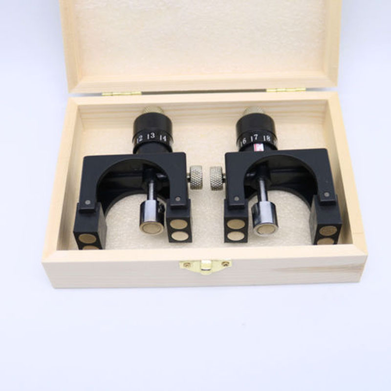 2pcs Magnetic Planer Blade Calibrators Knife Jointer Setting Jig Gauge Woodworking Setter Tool With Wood Box