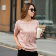 High Quality 18 Color S-2XL Plain T Shirt Women Cotton Elastic Basic T-shirts Female Casual Tops Short Sleeve T-shirt