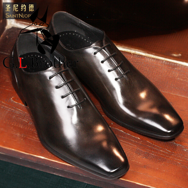 Italian Handmade Oxford Shoes Top Quality Mens Wedding Shoes Derby Dress Shoes Square Toe Lace Up Formal Oxfords ch kwok red handmade leather mens designer dress shoes pointed toe men lace up oxford heels shoes florals wedding formal oxfords