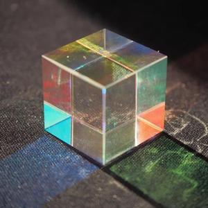 Дефектный цветной комбинированный сплиттер крест дихроический куб RGB Призма прочное качество с коробкой для обучения световому спектру