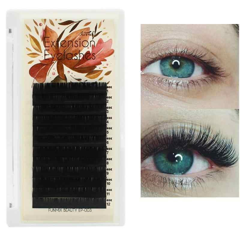 c8d504c44a9 Eyelash Extensions High Quality 8/10/12mm Single Planting Grafting False  Eyelashes Velvet Hollow
