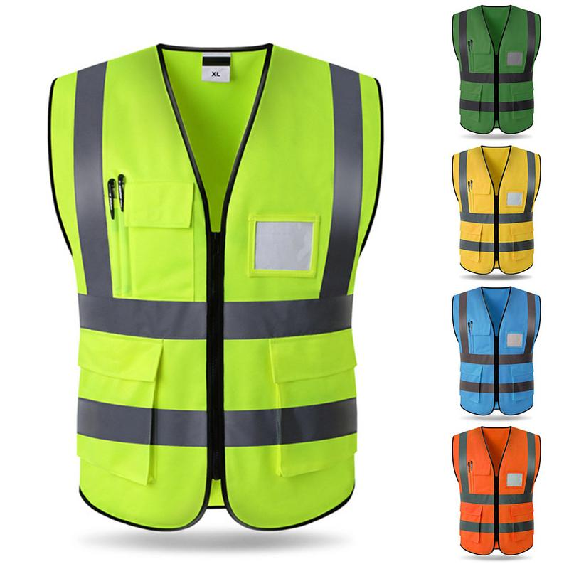 Safety Vest LED Night Reflective Running Cycling Waistcoat Jacket Safety Top